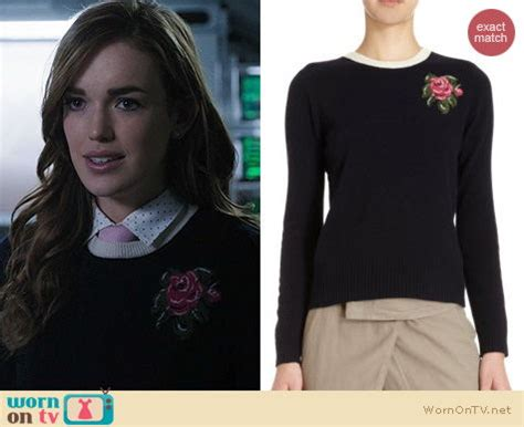 Sweater Agents Of My Hem 01 2 wornontv jemma s flower sweater on agents of shield elizabeth henstridge clothes and
