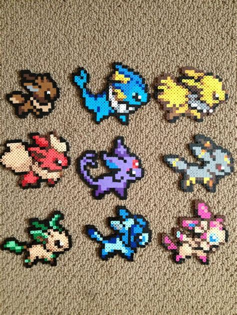 perler bead eeveelution perler bead set by clayforpay on deviantart