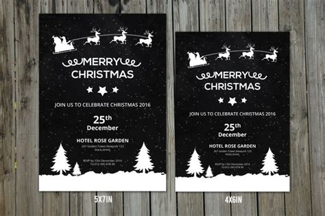 30 christmas invitation template and christmas party