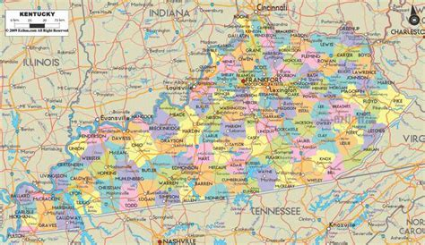 kentucky map county lines ky county map holidaymapq