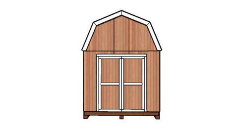 10x10 barn shed doors plans howtospecialist how to