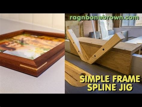 Wood From Home Making A Simple Frame Spline Jig For The