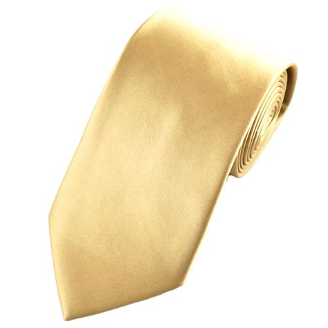 plain caramel gold satin tie from ties planet uk