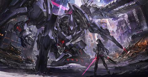wallpaper engine anime war robot scifi anime war hd artist 4k wallpapers images