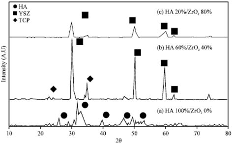 xrd pattern of ysz synthesis and characterization of hydroxyapatite zirconia