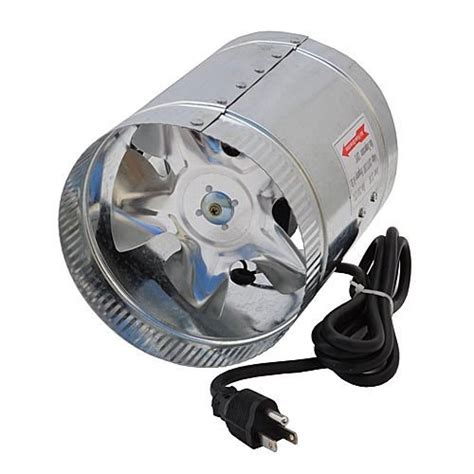 inline duct booster fan ledwholesalers gyo2402 6 inch 240 cfm air duct inline