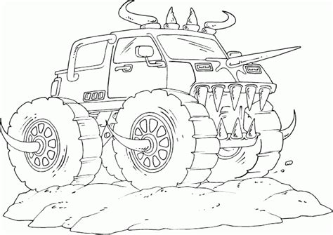 monster truck coloring pages 2 coloring pages print