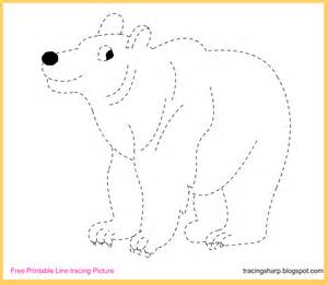 Trace Image Online Free Tracing Line Printable Bear Tracing Picture
