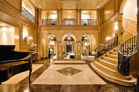 mansion foyer luxury mansion home foyer staircase night view