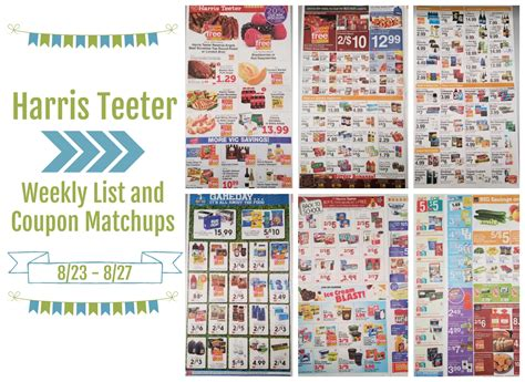 printable grocery coupons for harris teeter harris teeter deals weekly list and coupon matchups 8 23