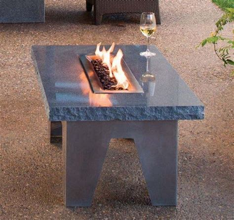 unique stone table with fireplace completing outdoor garden furniture for outdoor rooms vesta fire table from