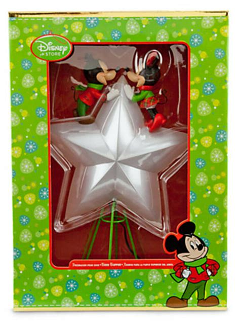 disney tree toppers for christmas trees disney store mickey minnie tree topper new ebay