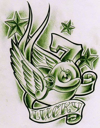 lucky seven tattoo lucky 7 design designs other