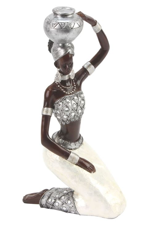 juliana ebony effect crystal african masai figurine gift
