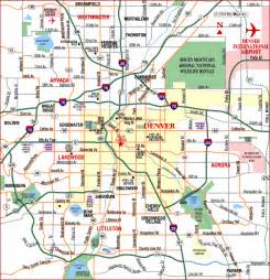 road map of denver metro denver colorado aaccessmaps