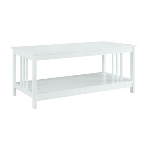 Convenience Concepts Coffee Table Convenience Concepts Misson White Coffee Table 203382w The Home Depot