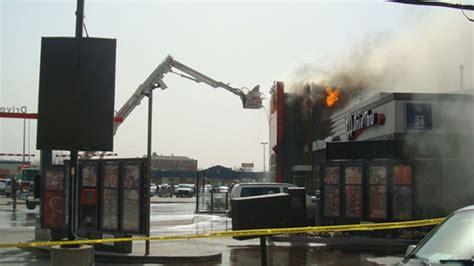 siege mcdonald firefighters battle blaze at mcdonald s restaurant on
