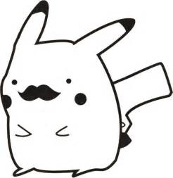 pokemon classy pikachu mustache face decal by stickedecals