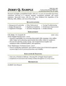 Military Resume Builder Military Transition Resume Job Pinterest