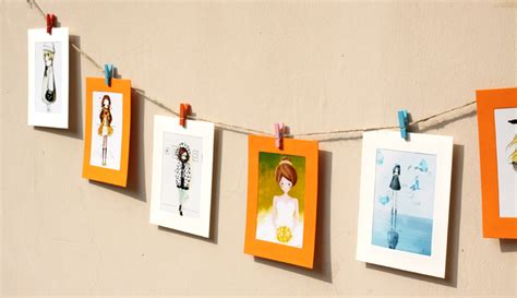 hanging pictures with wire and clips photo hanging clips designs and materials homesfeed