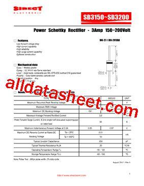 transistor a970 data sheet pdf sb3150 datasheet pdf sirectifier global corp