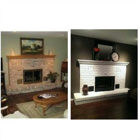 paint brick fireplace before after before and after painted brick fireplace for the home