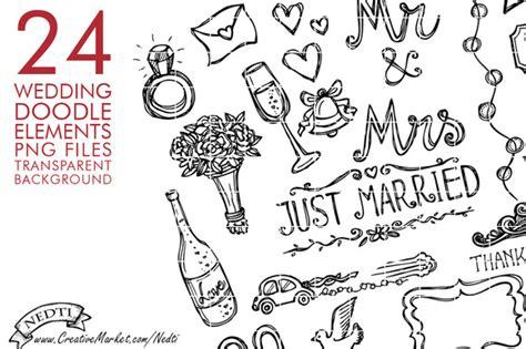 doodle wedding doodle wedding set png illustrations on