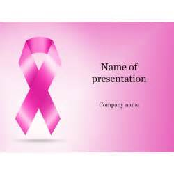 Cancer Powerpoint Templates by Cancer Ribbon Powerpoint Template Background For