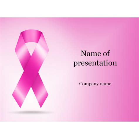 Cancer Ribbon Powerpoint Template Background For Breast Cancer Powerpoint Template