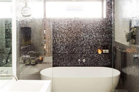 bathroom feature tiles ideas darren deanne used the concrete fuse porcelain lappato