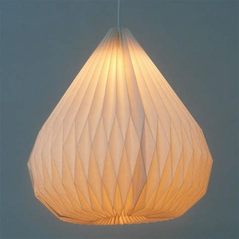 Paper Lighting Fixtures Hanging Origami Modern White Paper Pendant L Diy Handmade Paper Lantern Folding L For