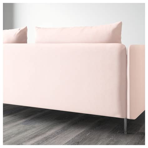 light pink couch s 214 derhamn three seat sofa and chaise longue samsta light