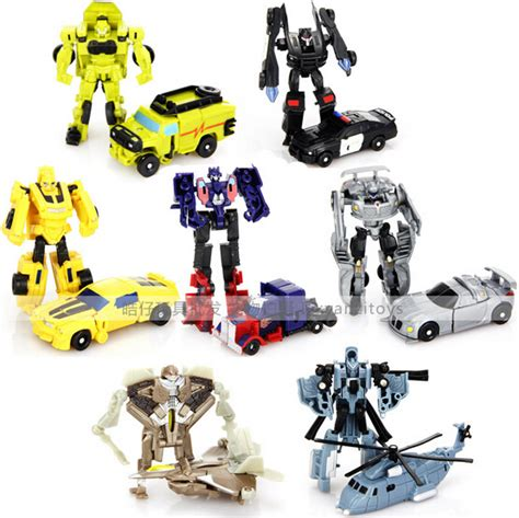 New Deformation Robot Tranformer Bumble Bee Murah new 2014 emulational optimus prime bumblebee prowl ramchet jetfire blackout mirage figure