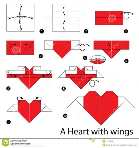 How To Fold Paper Hearts Step By Step - step by step how to make origami with