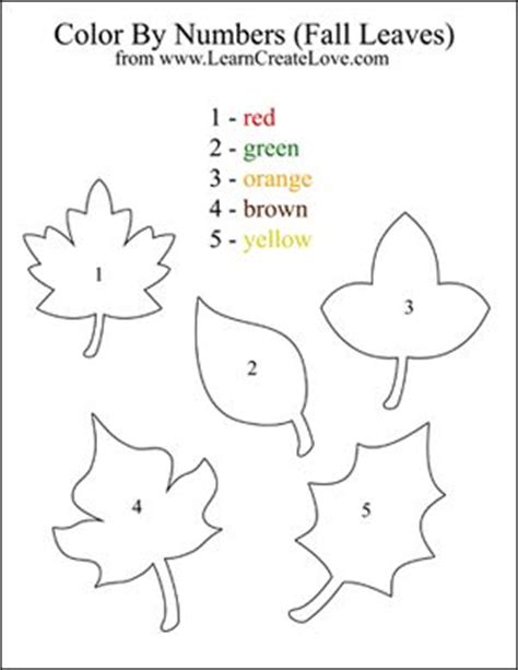 Printable Number Leaves | pinterest the world s catalog of ideas