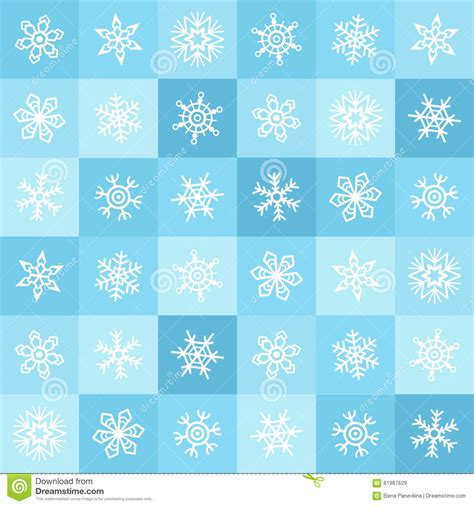 typing pattern project abstract flat design snowflakes and squares winter seamless pattern