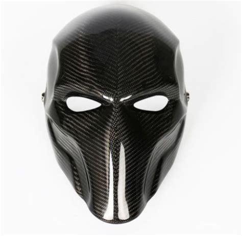 Masker Black Mask real carbon fiber handmade deathstroke mask