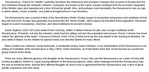 Critical Essay Definition critical essay on definition of renaissance at essaypedia