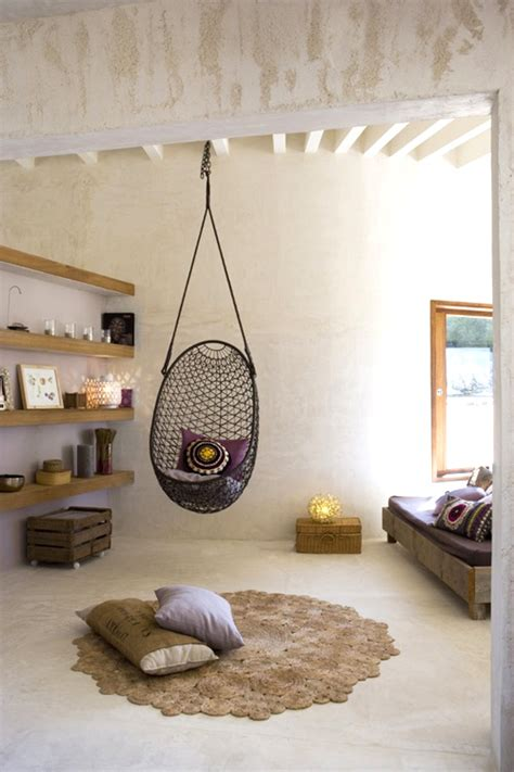hanging living room chair design the influence the rattan hanging chair la dolce vita