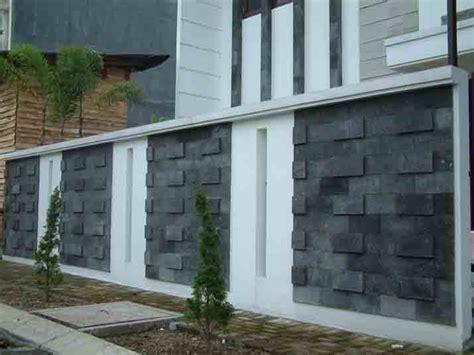contoh batu alam  dinding rumah modern rumah impian