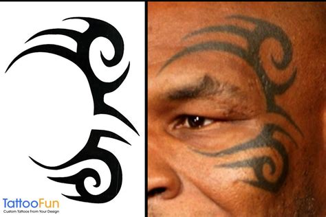 mike tyson face tattoo mike tyson tribal design temporary by tattoofun