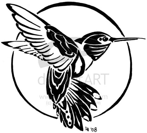 hummingbird tribal tattoo hummingbird tribal by finaira on deviantart