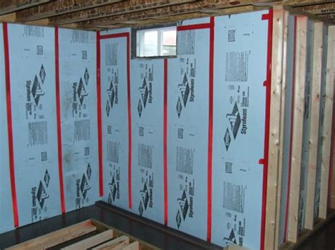 insulating concrete basement walls insulate basement walls using xps foam board
