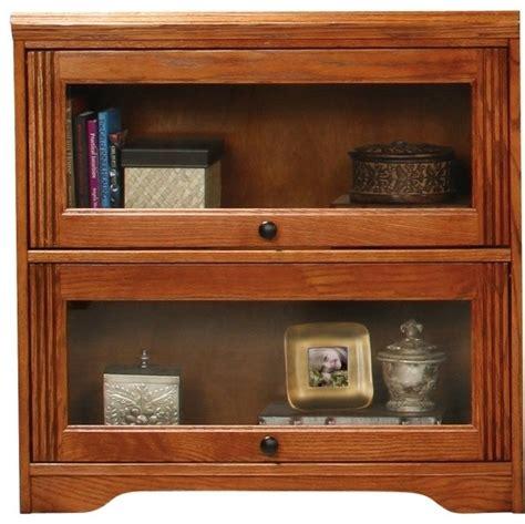 oak bookcase glass doors white kitchen buffet and hutch