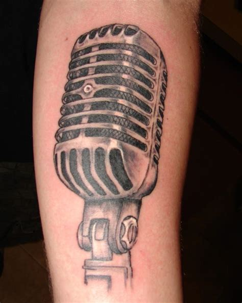 vintage microphone tattoo designs retro microphone by tmtattooart on deviantart