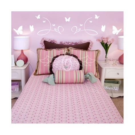 Tete De Lit Papillon sticker t 234 te de lit papillons d 233 coration murale chambre