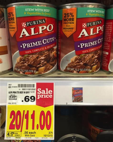 alpo canned food alpo canned food 0 43 per can at kroger kroger krazy