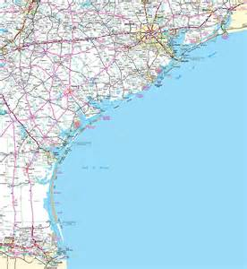 map of coastal cities map of coast