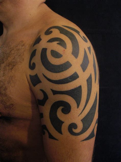 tribal arm tattoos for men sleeves tribal half sleeve images femalecelebrity