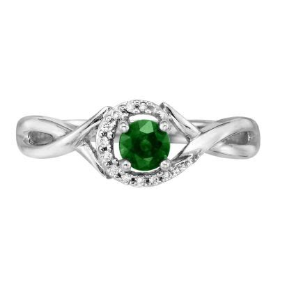 river jewelers emerald halo infinity ring